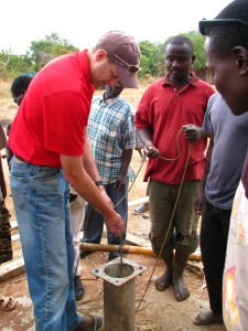 Volunteer and borehole drilling