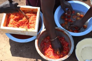 Some of our Family Life Group leaders learned to make tomato jam, soya milk, and soya sausages.