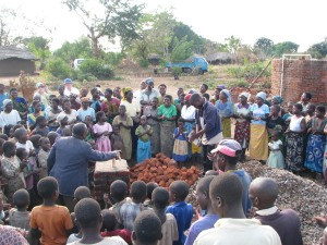Preaching and prayer at the opening of a clean water supply